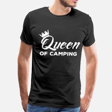 Her Majesty The Queen Queen of Camping Nature Outdoors Adventure T-Shirt - Men's Premium T-Shirt