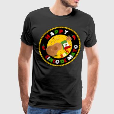 Happy Cinco de Mayo 2017 Guitar Mexican Flag Shirt - Men's Premium T-Shirt