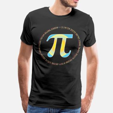 Pi Circle PI CIRCLE WITH NUMBERS - Men's Premium T-Shirt