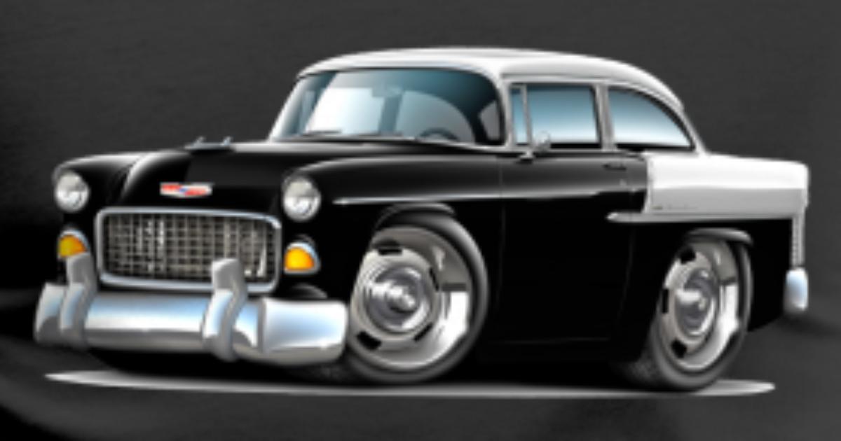1955 Chevy Belair Black Car Mens Premium T Shirt Spreadshirt