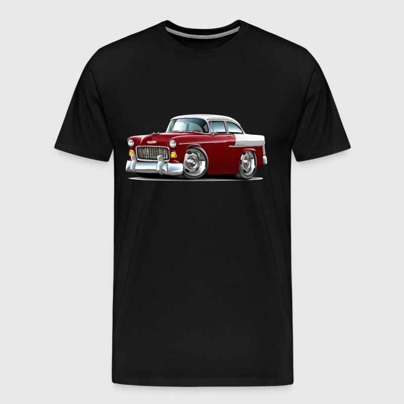 1955 Chevy Belair Maroon Car - Men's Premium T-Shirt
