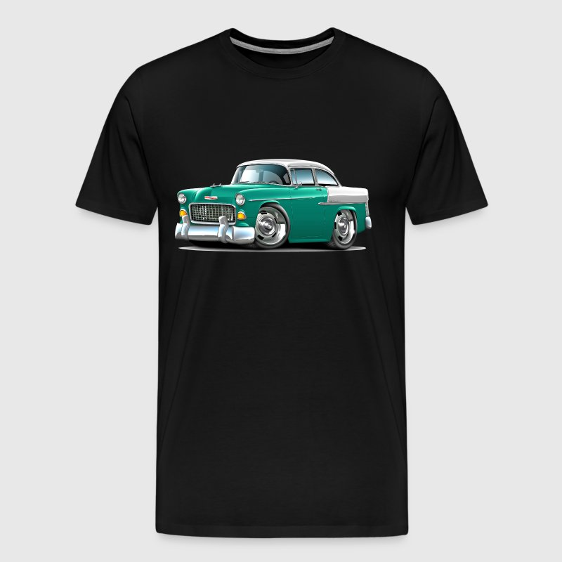 1955 Chevy Belair Green Car - Men's Premium T-Shirt