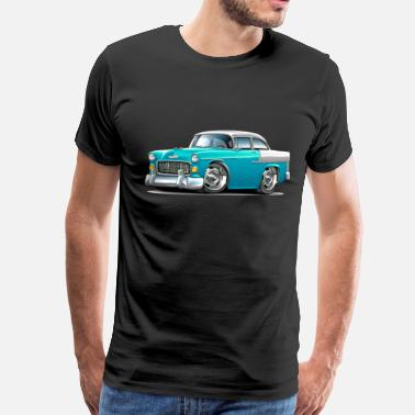 1955 Chevy 1955 Chevy Belair Turquoise Car - Men's Premium T-Shirt