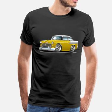 Yellow 1955 Chevy Belair Yellow Car - Men's Premium T-Shirt