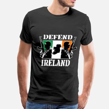 Belfast Irish Hooligans with Irish Flag - Men's Premium T-Shirt