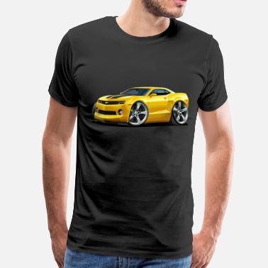 27f7dde5 2010-12 Chevy Camaro Yellow-Black Car - Men's Premium T-Shirt