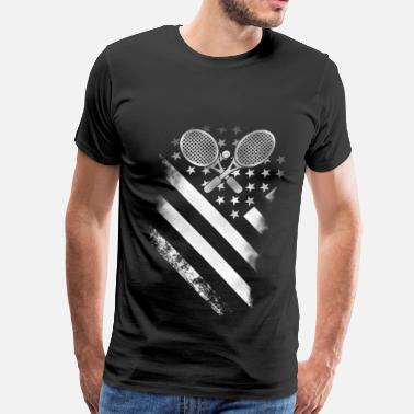 League Tennis Tennis player - Tennis American flag - Men's Premium T-Shirt