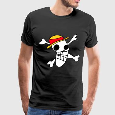 luffy's flag drawing - Men's Premium T-Shirt