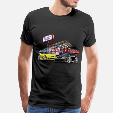 Gto 2004-06 Pontiac GTO Gas Station - Men's Premium T-Shirt