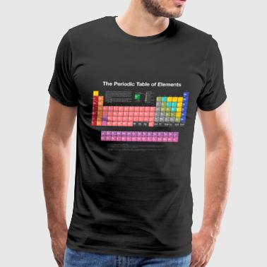 Shop periodic table t shirts online spreadshirt periodic table of elements pte light men39s premium urtaz Choice Image