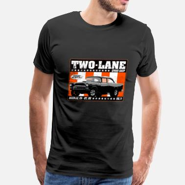 Two Lane Blacktop rb_twolane_distress - Men's Premium T-Shirt