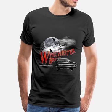 Supernatural Winchester Bros Hunting Evil Since 1983 1967 chevr - Men's Premium T-Shirt
