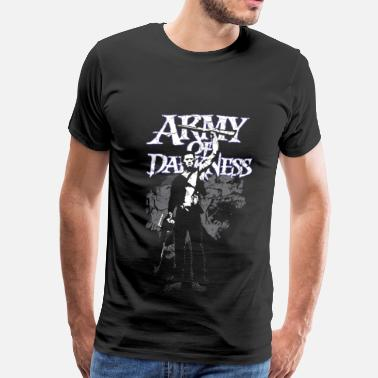 Evil Dead - Groovy Chainsaw Army of darkness film T-shirt - Men's Premium T-Shirt