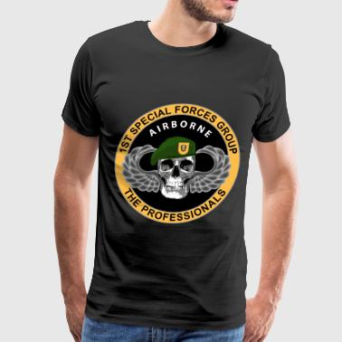 1st Special Forces Group - Skull - Men's Premium T-Shirt