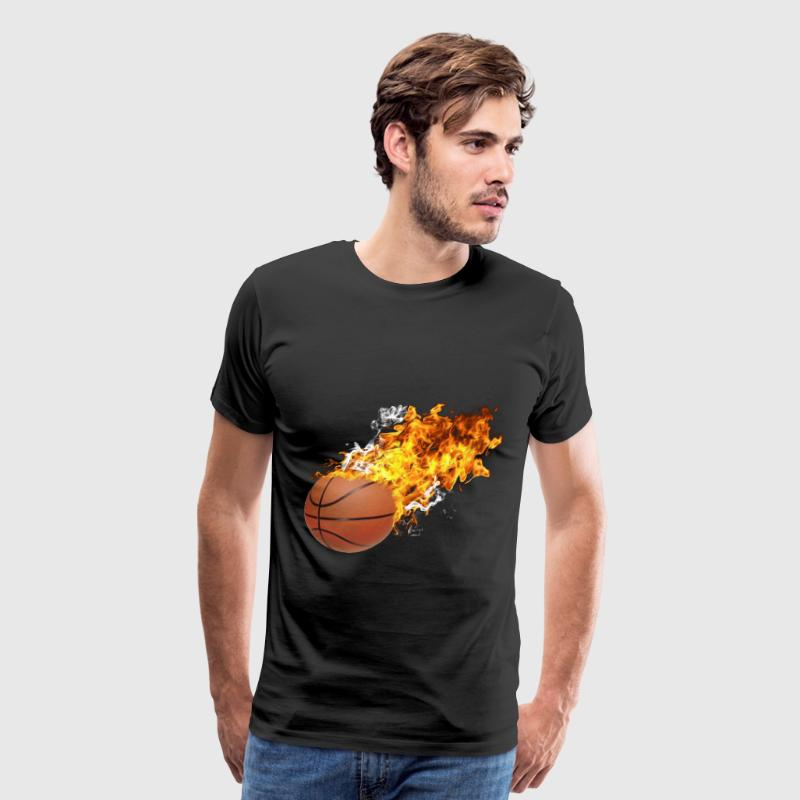 Flaming Basketball - Men's Premium T-Shirt