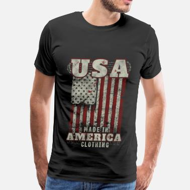 Made In Usa With British Parts American apparel made in america clothing - Men's Premium T-Shirt