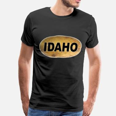 Idaho Idaho Potatoes Euro Style Oval Car - Men's Premium T-Shirt