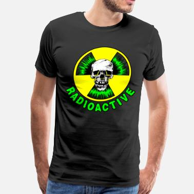 Nuclear Power Radioactive Skull Green T - Men's Premium T-Shirt