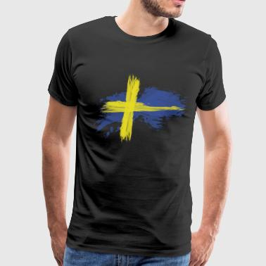 sweden flag awesome - Men's Premium T-Shirt