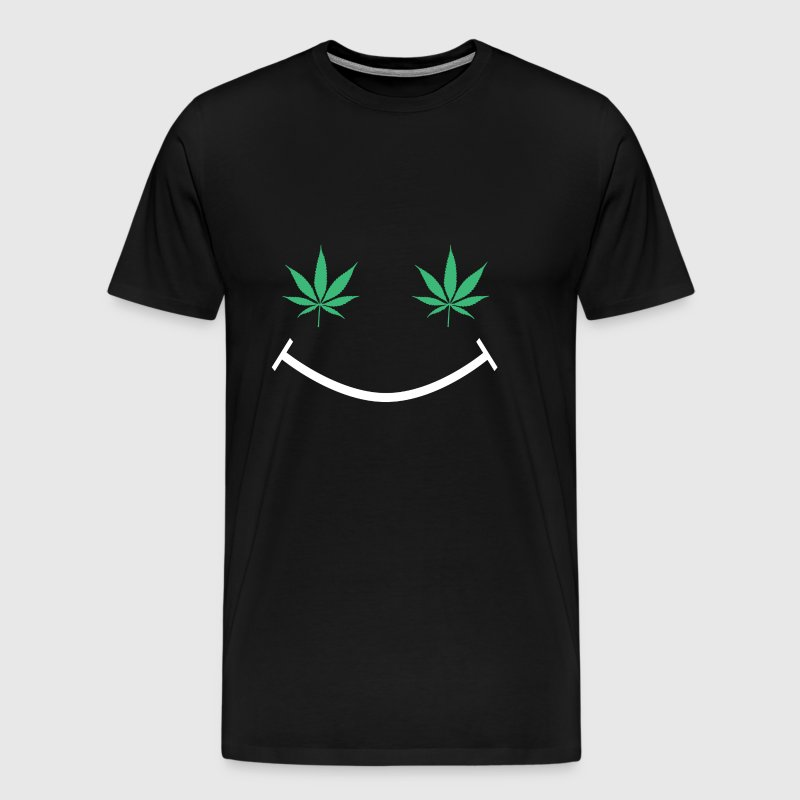 Happy Weed Smiley Face - Men's Premium T-Shirt