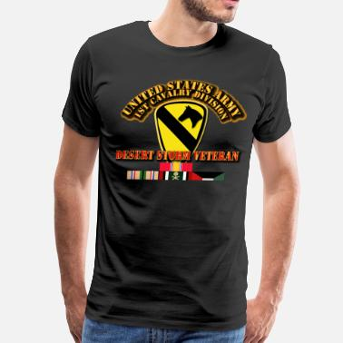 Army Cavalry Military Army - 1st Cavalry Division - Desert Storm Veteran - Men's Premium T-Shirt