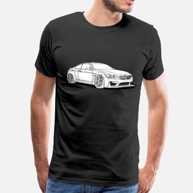 Sportscar awesome white car - Men's Premium T-Shirt