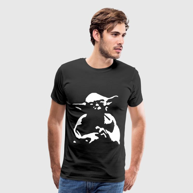 Yoda Outline Invert - Men's Premium T-Shirt