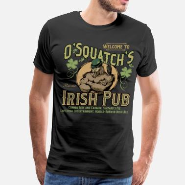 Irish Whiskey OSquatch's Irish Pub - Men's Premium T-Shirt