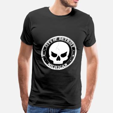 Detroit deadly skull - Men's Premium T-Shirt