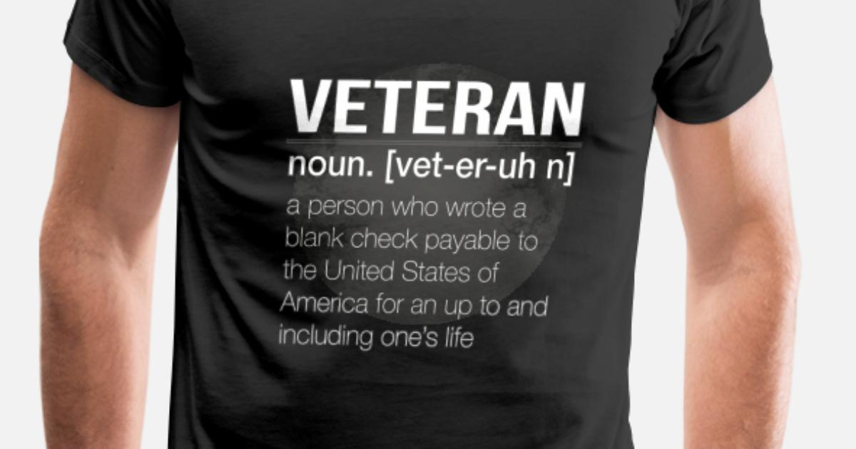 dc4c15871 veterans t shirt the definition of a veteran men s premium t shirt. american  flag vietnam veteran