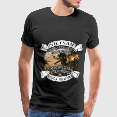 Veterans T-shirt - Vietnam- Beautiful beaches - Men's Premium T-Shirt