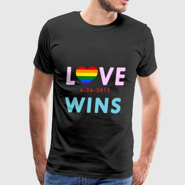 Love Wins! Celebrate the SCOTUS Ruling ! - Men's Premium T-Shirt
