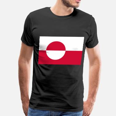 Greenland  Flag of Greenland  - Men's Premium T-Shirt