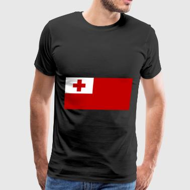 Tonga Flag - Men's Premium T-Shirt