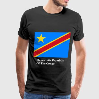 Democratic Republic Of The Congo Democratic Republic Of The Congo Flag - Men's Premium T-Shirt
