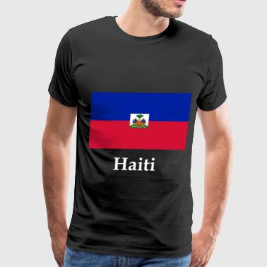 Haiti Flag - Men's Premium T-Shirt