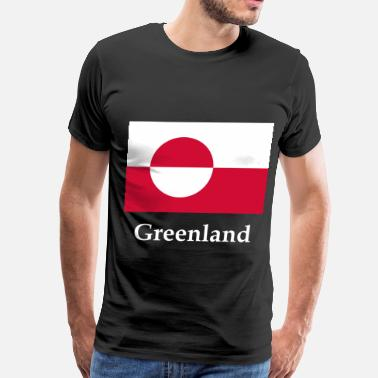 Greenland Greenland Flag - Men's Premium T-Shirt