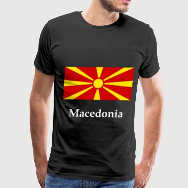 Macedonia Flag - Men's Premium T-Shirt