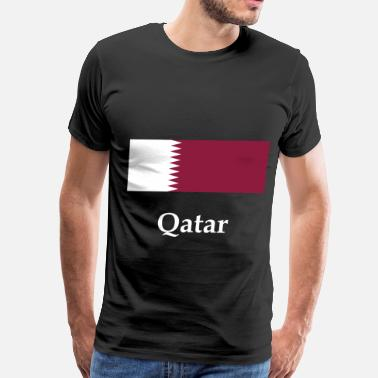 Qatar Qatar Flag - Men's Premium T-Shirt