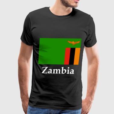 Zambia Flag - Men's Premium T-Shirt
