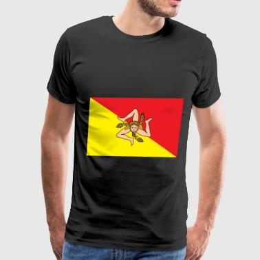 Sicily Flag - Men's Premium T-Shirt