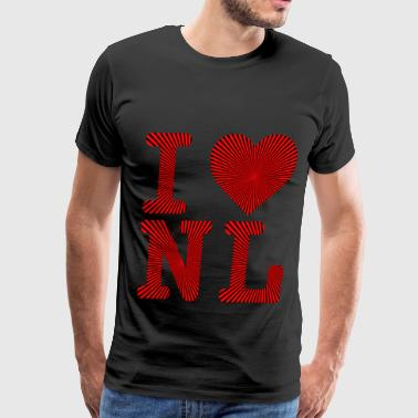 Funny Whiskey Rum Screech I LOVE HEART NL NEWFOUNDLAND AND LABRADOR X4 - Men's Premium T-Shirt