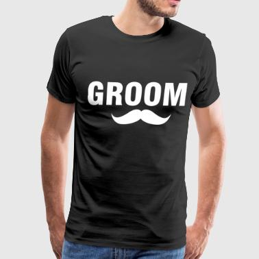 Groom-stache - Men's Premium T-Shirt