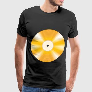 Shellac golden vinyl record - Men's Premium T-Shirt