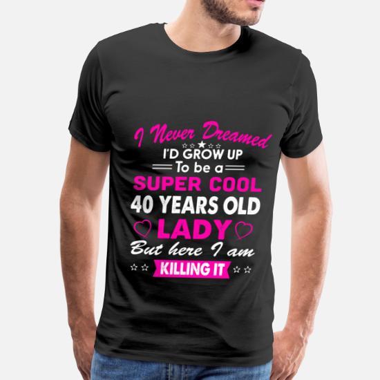 Mens Premium T Shirt40 Years Old Womens Shirt Birthday Gift