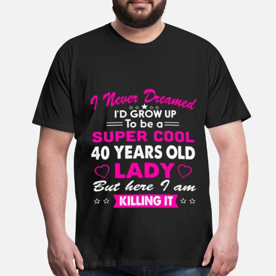 40 Years Old Womens T Shirt Birthday Gift Mens Premium