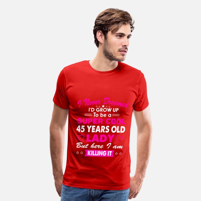 45 Years Old Womens T Shirt Birthday Gift Mens Premium