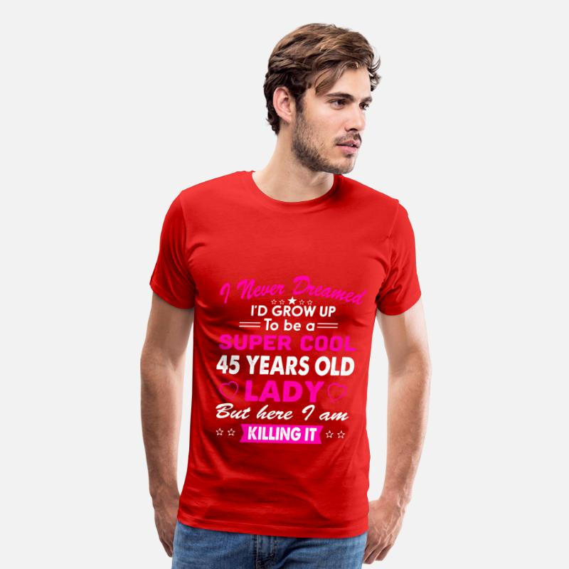 45 Years Old Womens T Shirt Birthday Gift Mens Premium
