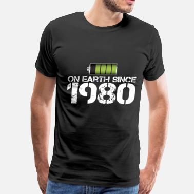 Since 1980 on earth since 1980 - Men's Premium T-Shirt