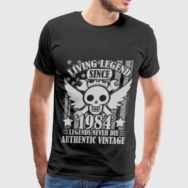 living 1984 1a.png - Men's Premium T-Shirt